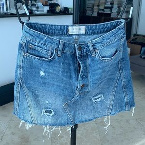 Free People Jeans Skirt